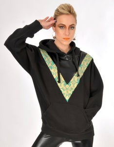 "Image of GOLD 'N' GREEN UNISEX ""BLADE RUNNER"" HOODIE..."