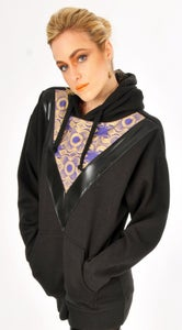 "Image of GOLD 'N' PURPLE UNISEX ""BLADE RUNNER"" HOODIE..."