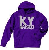 Image of Ky Raised Purple / Grey Hooded Sweatshirt