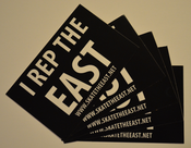 "Image of ""I Rep The East"" Sticker 5 Pack"