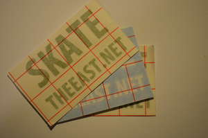 "Image of ""Skate The East.net"" Block Vinyl Sticker RANDOM COLOR 3 Pack"