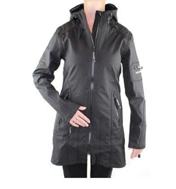 Image of Ilse Jacobsen 3/4 Length Raincoat - Black
