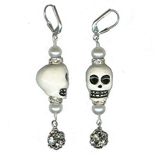 Image of Skull Earrings - As Seen in DEAD SEXY: The Walking Dead Fan Guide