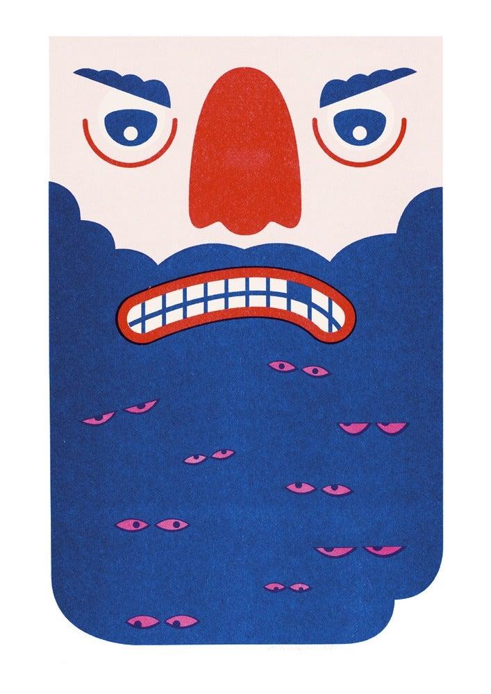 Image of A3 Beard Print