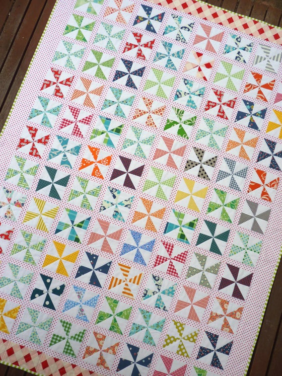 Image of Pinwheels on Parade Quilt Pattern (pdf file)