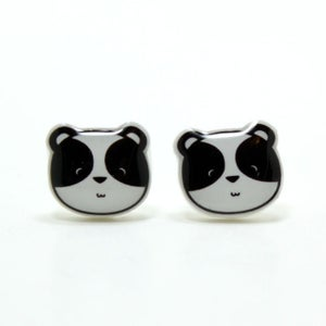 Image of Panda Earrings - Sterling Silver Posts