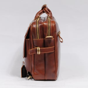 "Image of Handmade Leather Briefcase / Messenger / 15"" MacBook 14"" Laptop Bag / Travel Bag - MASSY (n41)"