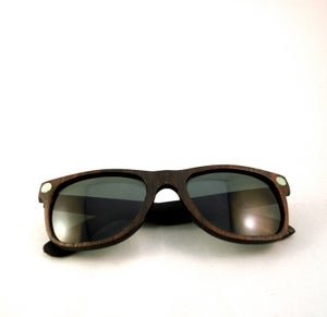 Image of Ebony and Turquoise Wayfarer Sunglasses