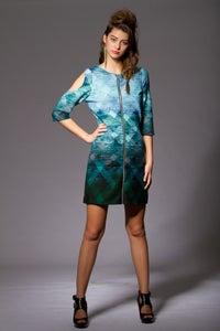 Image of Knit Zip-Up Dress