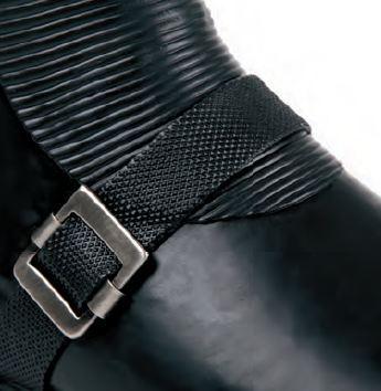 Image of Ilse Jacobsen Biker Boots, Mid Calf - Black