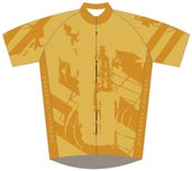 Image of GRAPHIX CYCLING JERSEY ORANGE