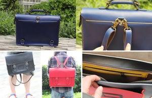 Image of Handmade Genuine Leather Satchel / Messenger Bag / Backpack (s1-3)