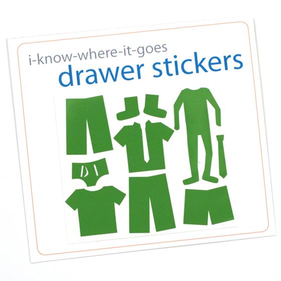 Image of Drawer Organizer Stickers - Boys