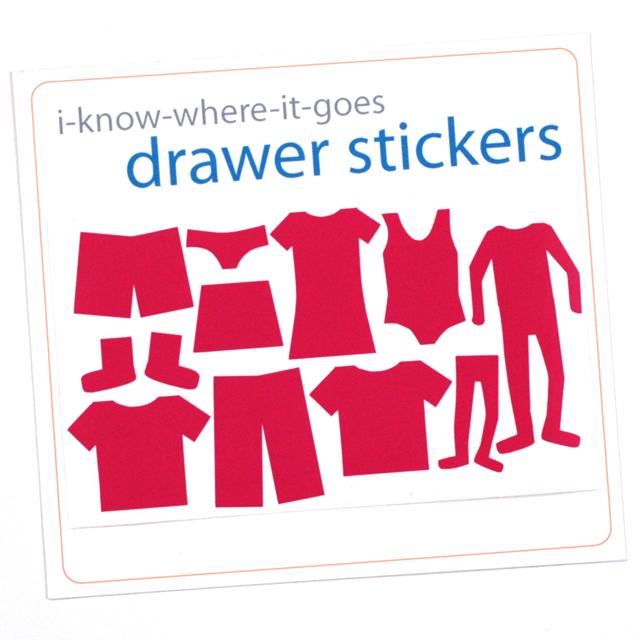 Image of Drawer Organizer Stickers - Girls