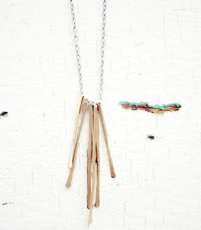 Image of gold stems necklace