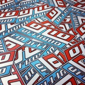 Image of Sticker, Red/Blue (small)