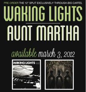 """Image of Pre-Order Waking Lights/Aunt Martha 12"""" Split"""
