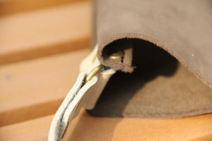 Image of Handmade Artisan Genuine Leather Messenger Bag Satchel in Dark Brown - Pail Bag - Unisex (m15-2)