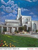 Image of Mount Timpanogos Utah LDS Mormon Temple Art Painting by Michael Seely