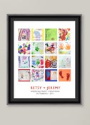 Image of Children's Artwork Display—large poster with 16 works of art
