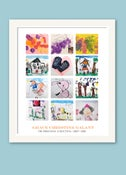 Image of Children's Artwork Display—large poster with 12 works of art