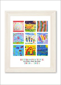 Image of Children's Artwork Display—small poster with 9 works of art