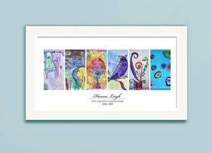 Image of Children's Artwork Display—panel poster w/ 6 works of art
