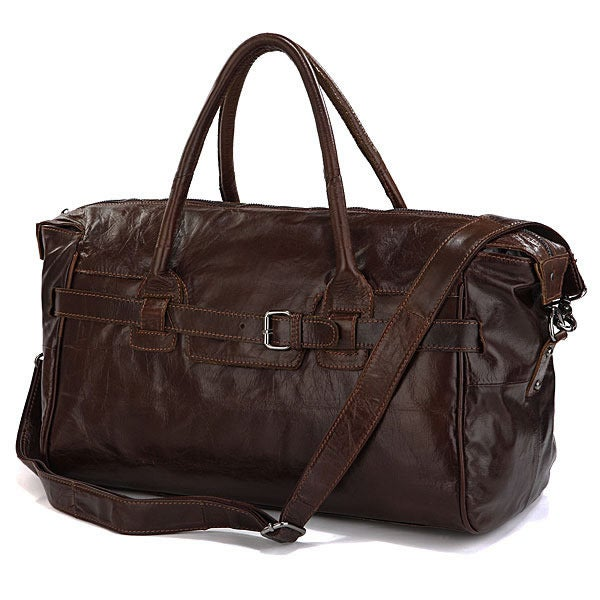 Image of Handmade Antique Leather Travel Bag / Tote / Messenger / Overnight Bag / Weekend Bag (n61)