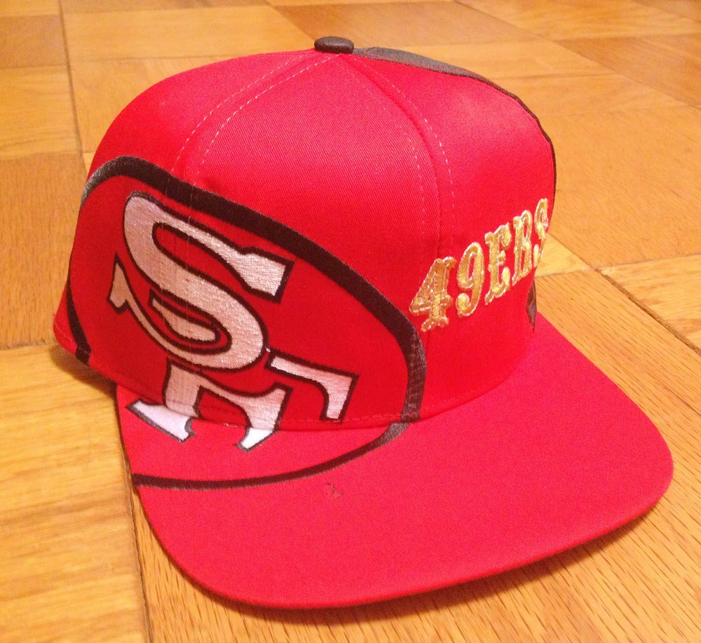 Image of VINTAGE SAN FRANCISCO 49ERS EASTPORT STARTER BIG LOGO SNAPBACK HAT CAP