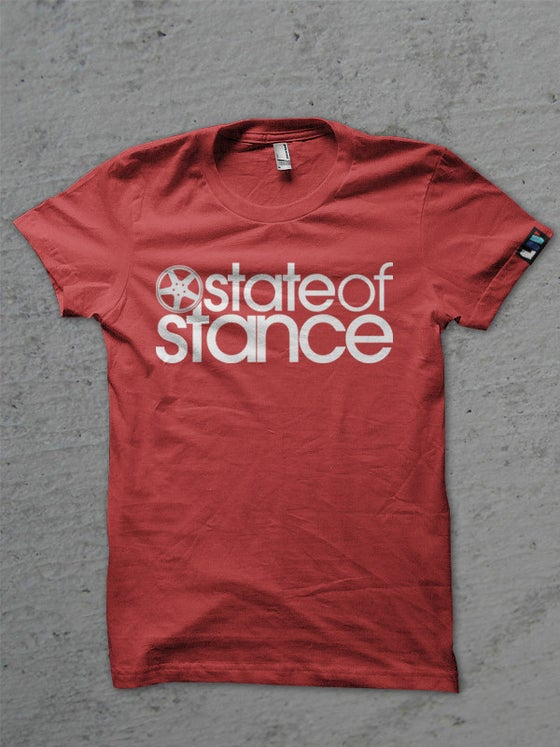Image of State of Stance Logo | Mens Tee Red - *Preorder*