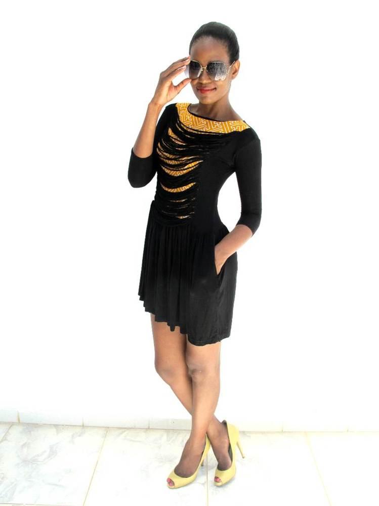 Image of The 'BARAKA' Skater Dress (Yellow)