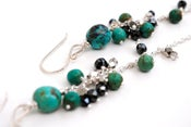 Image of Turquoise, Sterling Silver Dangle Earrings