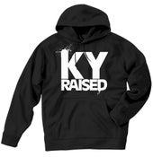 Image of KY Raised Black / White Hooded Sweatshirt