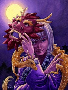 """Image of Original Painting """"Year of the Dragon"""""""