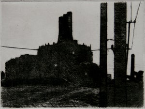Image of Rouge Nocturne Drypoint print 7/10