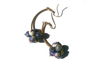 Image of Sodalite Cluster Earrings