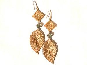 Image of Woven Leaf Earrings