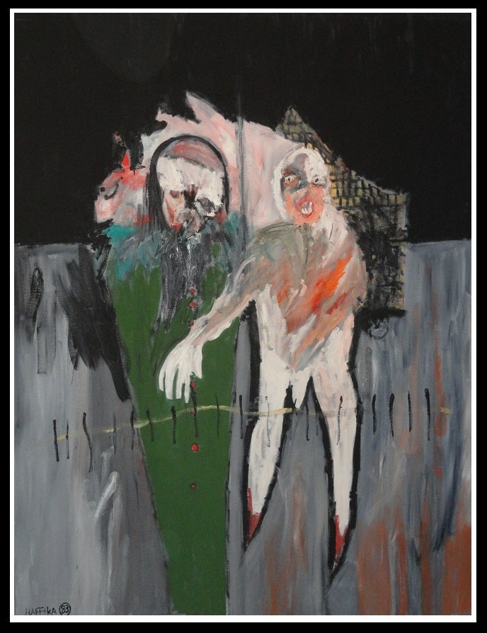 Image of Original Expressionist Painting by Michael Hafftka -  Edgewalk