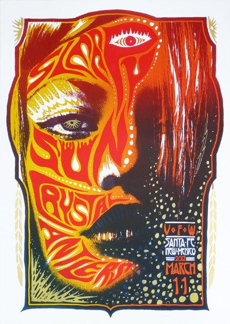 Image of Sleepy Sun & Crystal Antlers - Santa Fe 2012 - Silkscreen Poster