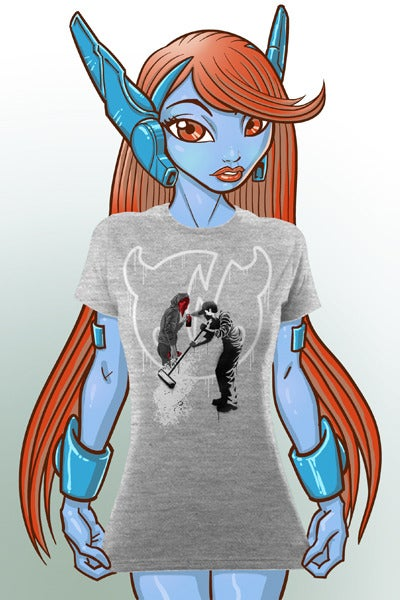 "Image of ""Bomb & Destroy"" Heather Grey T-shirt - Girl Fit"