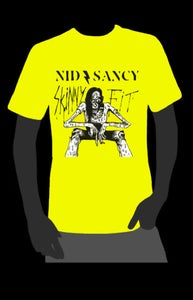 Image of ϟKINNY FIT (BLACK & WHITE ON YELLOW)