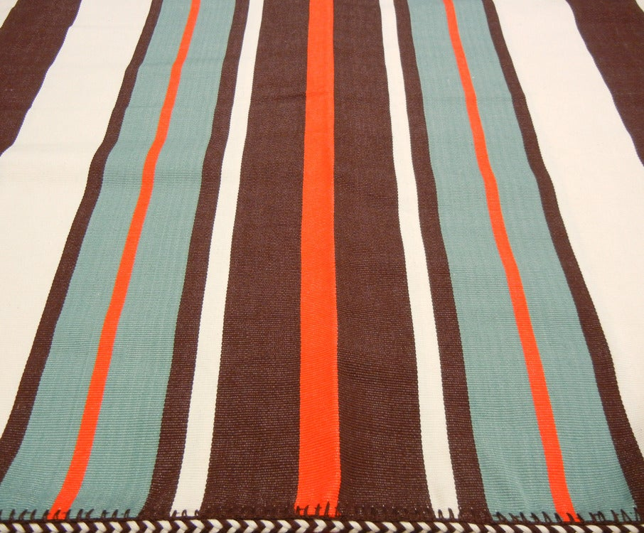 Image of MAYA CHIEF BLANKET poppy/ turquoise (2012)