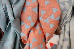 Image of Linen Geometric Print Scarf