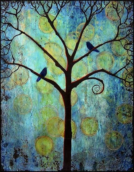 Image of Twilight Tree Matted Signed Print