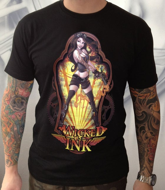 Image of Men's Black Steampunk S/Sleeve