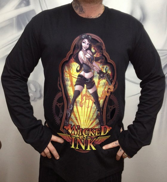 Image of Men's Black Steampunk L/Sleeve