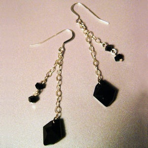 Image of Black Velvet Earrings