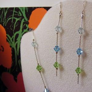 Image of Ocean Breeze Swarovski Earrings