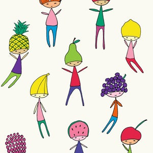 Image of Fruit Heads Print