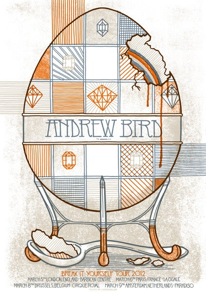 Image of Andrew Bird - Break It Yourself Euro Tour Poster
